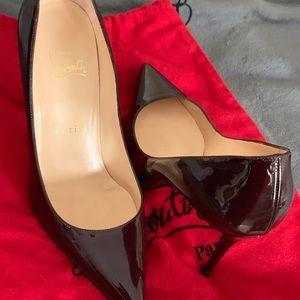 "Burgundy So Kate Christian Louboutin 4"" heels"